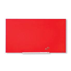Nobo 1905183 Red Diamond Glass Whiteboard 667 x 381mm