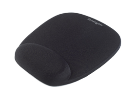 Kensington 62384 Foam Mousepad with Wrist Rest Black