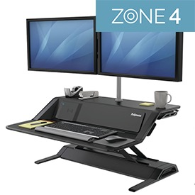Fellowes 8081001 Lotus DX Sit-Stand Workstation - Black