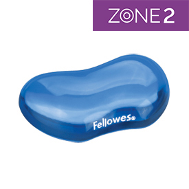 Fellowes 91177-72 Crystal Gel Flex Wrist Rest