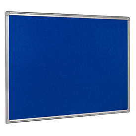 Bi-Office Earth-It Blue Felt Noticeboard Alu Frme 1200x900