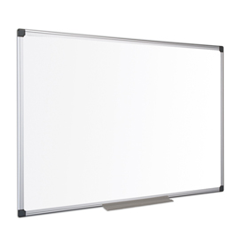Bi-Office Maya Enamel Aluminium Framed Whiteboard 900x600mm