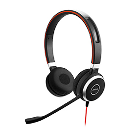 Jabra Evolve 40 UC Stereo Headset with 3.5mm Jack