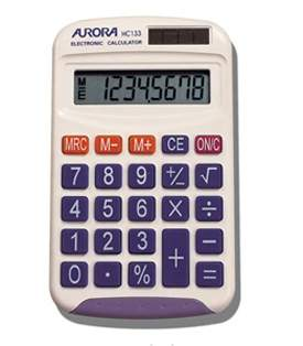 Aurora HC133 Handheld Calculator