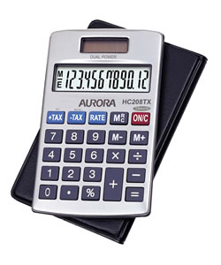 Aurora HC208TX Handheld Calculator