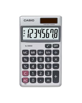 Casio SL-300SV Handheld Calculator