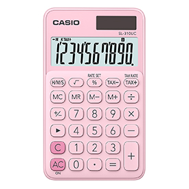 Casio SL-310UC Handheld Calculator Pink