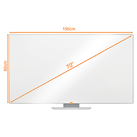 Nobo 1905294 70 Inch Widescreen Melamine Whiteboard