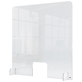 Nobo 1915488 Plexiglass Counter Screen with hole 700 x 850mm