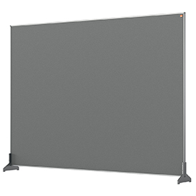 Nobo 1915500 Grey Impression Pro Desk Divider 1400x1000mm