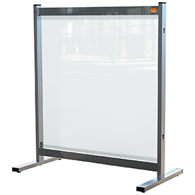 Nobo 1915547 Premium Plus Clear PVC Protective Desk Divider Screen 700x860mm