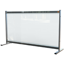 Nobo 1915548 Premium Plus Clear PVC Protective Desk Divider Screen 1400x800mm