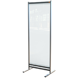 Nobo 1915552 Premium Plus Clear PVC Free Standing Protective Room Divider Screen 700x2000mm