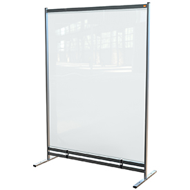 Nobo 1915553 Premium Plus Clear PVC Free Standing Protective Room Divider Screen 1400x2000mm
