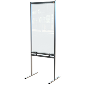 Nobo 1915558 Premium Plus Clear PVC Free Standing Protective Divider Screen 700x2000mm
