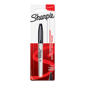 Sharpie 1985857 Fine Black Permanent Pen Pack of 12 Blister Packs