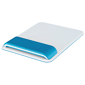 Leitz Ergo WOW Mouse Pad with Adjustable Wrist Rest Blue