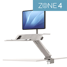 Fellowes 8081701 Lotus RT Single Sit-Stand Workstation White