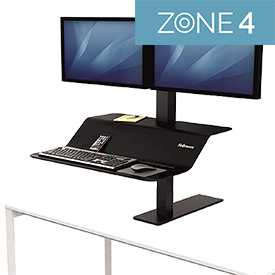 Fellowes 8082001 Lotus VE Sit-Stand Workstation - Dual