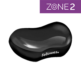 Fellowes 9112301 Crystal Gel Flex Wrist Rest