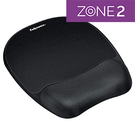 Fellowes 9176501 Memory Foam Wrist Rest and Mousepad Black