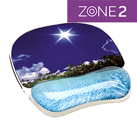 Fellowes 9202601 Beach Photo Gel Mouse Pad with Wrist Support