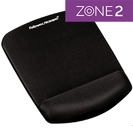 Fellowes 9252003 PlushTouch Mousepad Wrist Support Black