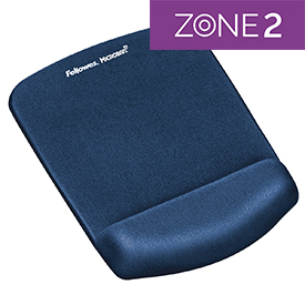 Fellowes 9287302 PlushTouch Mousepad Wrist Support Blue