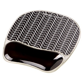 Fellowes Gel Mouse Pad - Chevron Pack of 4