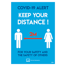 Avery A3 COVID-19 Pre-Printed 2M Social Distancing Poster