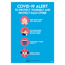 Avery A3 COVID-19 Pre-Printed Virus Prevention Poster