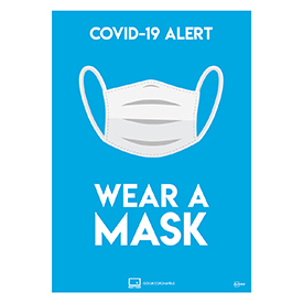Avery A4 COVID-19 Pre-Printed Wear A Mask Poster