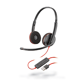 Poly Blackwire C3220 USB-A Hi-Fi Stereo Headset