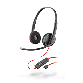 Poly Blackwire C3220 USB-C Hi-Fi Stereo Headset