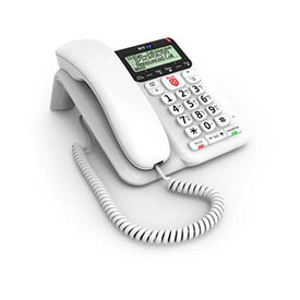 BT Decor 2600 White Corded Telephone with Call Blocker
