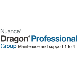 Nuance Dragon Professional Group 15 1-yr Maintenance and Support 1 to 4 Users