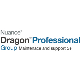 Nuance Dragon Professional Group 15 1-yr Maintenance and Support 5 and Above Users