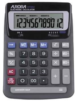 Aurora DT85V Desk Calculator
