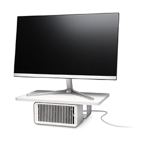 Kensington K55855EU CoolView Wellness Monitor Stand with Desk Fan