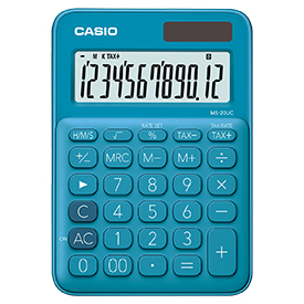 Casio MS-20UC Blue Compact Desk Calculator