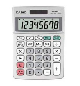 Casio MS-88ECO Mini Desk Calculator