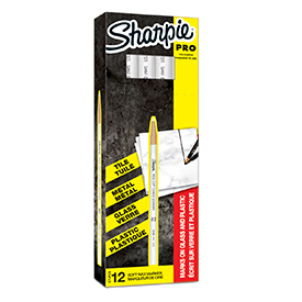 Sharpie S0305061 White China Marker Box of 12