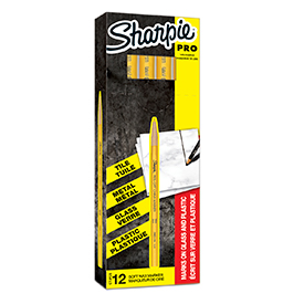 Sharpie S0305101 Yellow China Marker Box of 12